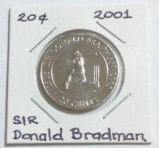 2001 Sir Donald Bradman UNC 20c From Mint Roll 1908~2001 -Random Pick (SDB)