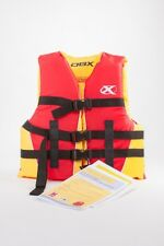 New Dbx Flotation Vest Youth 50-90lbs Red / Yellow Uscg Approved