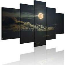 US STOCK Framed HD Canvas Print Home Decor Wall Art Painting-Quiet Moon Night