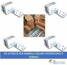 kit 4 STAFFE PER PANNELLI SOLARI FOTOVOLTAICI E TERMICI