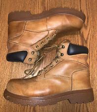Wolverine Men's Cheyenne Slip Resistant Tan Leather Work Boots W01038 Size 9.5w