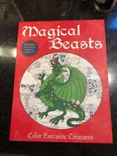 Magical Beasts Color Fantastic Creatures Mythical Monsters Dragons Coloring Kit