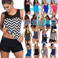 Womens Tankini Set Push-up Bikini Monokini Swimsuit Swimwear Ladies Bathing Suit