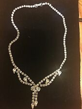 Vintage Kramer  Rhinestone Bride Style Choker Necklace