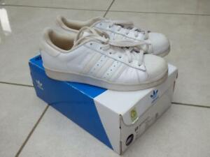 Adidas originals Superstar triple white leather trainers shoes, UK 5, EU 38