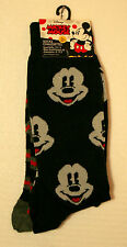 2 Pair Disney Mickey Mouse Face Stripe Pose Socks New French? Fits 6-12.5 foot
