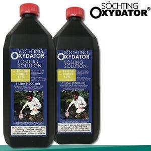 Söchting 2x 1L Oxydator Lösung 12% Wasserstoffperoxid Teich Aquarium Alge Pflege