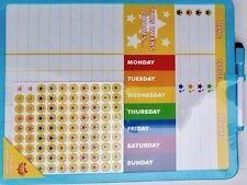 KIDS REWARD CHART WIPE CLEAN NURSERY CHILDREN BEHAVIOUR MAGNETIC STICKERS BOARD