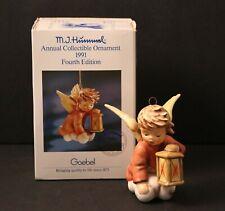 Vintage 1991 Goebel Hummel Angelic Guide Christmas Ornament Lantern Angel
