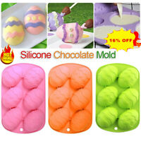 Easter Egg Shape Silicone Moulds Chocolate DIY Cake Dough Baking Ice Cube Tray