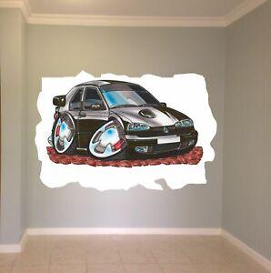 Huge Koolart Cartoon Renault 19 16V Wall Sticker Poster Mural 103 Black