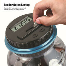 Clear Digital Bank Coin Savings Counter Lcd Counting Money Jar Change Gift Hu ✅