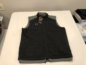 NWT $100.00 Under Armour Mens Coldgear Storm Quilted Vest Black Size XL