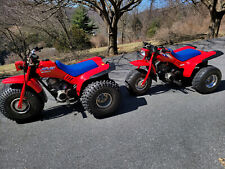 1986 1987 Honda Atc 125m Pair with Titles, wheels, and vintage accessories