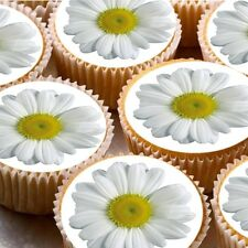24 icing fairy cake toppers decorations edible - Daisy Flower ND1