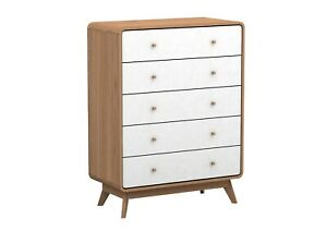 5 Drawers Dressers Chest Of Drawers Tallboy Cabinet Storage Bedroom Furniture