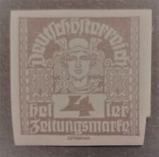 AUSTRIA-ÖSTERREICH STAMPS MLH - Newspaper Stamps - Thin White Paper, 1920,*, 4H