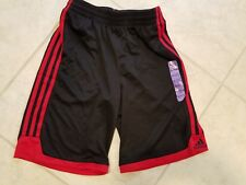 Adidas Performance Athletic Kids Shorts - Size Small 8 - Color Black / Red