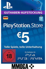 €5 EUR PlayStation Guthaben Key - 5 EURO PS4 PS3 PS Vita PSN Network Code - DE