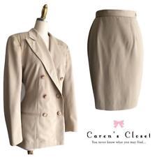 Women's Ralph Lauren Khaki Tan Blazer Pencil Skirt Suit Size 4/6