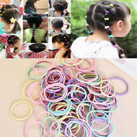 100Pcs Lot Kid Girls Elastic Rope Hair Ties Ponytail Holder Head Band Hairbands