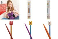 Pony 18cm Childrens Knitting Needles Single Ended / Pointed Pins 3.25mm - 6.0mm