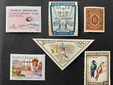 Republica Dominicana 1960-1990s, Lote 6 sellos, usados y sin usar