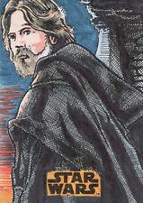 Star Wars The Last Jedi 2 - Sketch Card by Kurt Ruskin 1/1