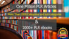 1 Million+ Plr articles + 2000 Plr ebooks