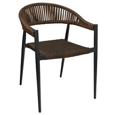 New Outdoor Fiji Arm Chair with Espresso Wicker Weave Back