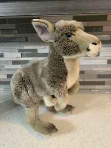 """Retired FAO Schwarz 18"""" Plush Kangaroo Stuffed Toy from Toys R Us Collection"""