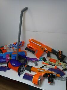BIG OFFICE NERF PARTY WITH DART COLLECTOR 8 GUNS 110 DARTS 2 MOTORIZED READY 2GO