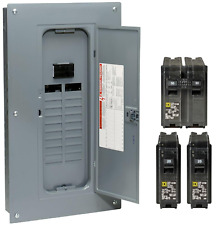 Square D 100 Amp 20 Space 40 Circuit Electrical Main Load Panel Breaker Center