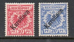 Germany Karolinen 1899-.Collection of 2.MLH.Signed.Very Fine.