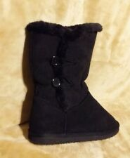 Women's UNBRANDED Suede Winter Boots Shoes  Black Sz 9