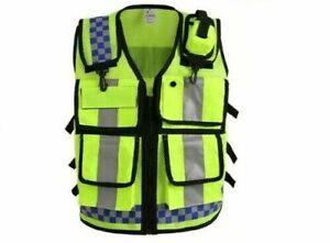 Safety Vest Yellow Reflective High Visibility Work Waistcoat Biker Jacket
