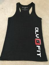 OlyFit Crossfit Woman's Black Sports Top Size Small