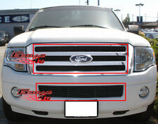 Fits 2007-2014 Ford Expedition Black Billet Grille Grill Insert Combo