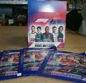 Topps Official F1 Stickers Collection 2021: Quantity 10, 25, 50 packs or Box
