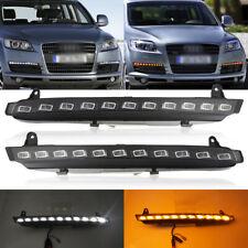 For Audi Q7 2007-2009 LED Daytime Running Light DRL Turn Signal Fog Lamp 22 LED