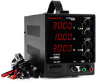 DC Power Supply, Bench Power Supply (0-30 V 0-10 A), LED Variable Power Supply