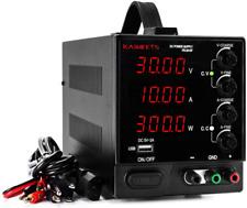 Dc Power Supply Variable 0 30v 0 10a Kaiweetslab Power Supply 4 Digital Adjus