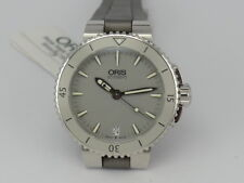 New 36mm Oris Aquis GREY dial SS 300m diver women watch in box