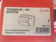 Danfoss TP5000RF Si + RX1 5/2 Day Wireless Programmable Room Stat with Receiver