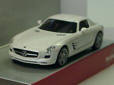 Herpa Mercedes-Benz SLS AMG, bianco metallico - 034418-003 - 1/87