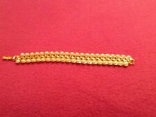 Faux Pearl And Gold Finish Bracelet