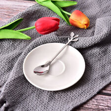 1pcs Vintage Exquisite Branch Shape Small Coffee Spoon Royal Style Flatware UK