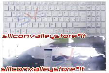 Tastiera Italiana Bianca senza Frame per Notebook Toshiba Satellite L50-B-1N8