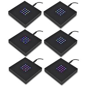 Asente Lights Large 16 LED Square Color Stand Base Crystals, Glass Art