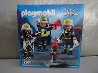 Playmobil City Action 5366 Feuerwehrteam mit Löschausrüstung - Neu & OVP